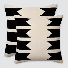 Decorative Pillows Modern Modern Throw Pillows Black U0026 White Handmade In Peru U2013 The