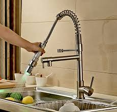 kitchen sink and faucet rozinsanitary contemporary single handle two spouts kitchen sink