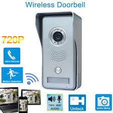 Front Door Monitor Camera by Wifi Remote Video Doorbell Home Security Camera Monitor Intercom
