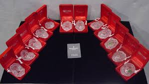 waterford 12 days of annual ornaments mint in