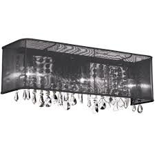 Chrome Wall Sconce With Black Shade Chrome Candle Wall Sconce - Bathroom vanity light with shades
