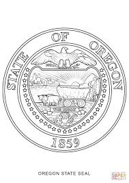 oregon state seal coloring page free printable coloring pages