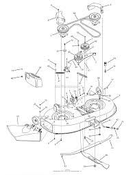 troy bilt 13an77kg011 pony 2008 parts diagram for deck assembly