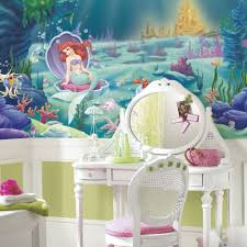 disney little mermaid wallpaper mural girls green wall decor disney little mermaid wallpaper mural girls green wall decor bedroom decorations ebay