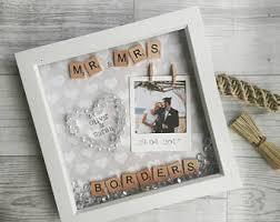 wedding gift photo frame wedding presents etsy