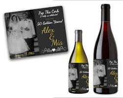 anniversary wine bottles 50th anniversary wine labels 50th anniversary party favors