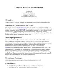 It Technician Resume Examples by Maintenance Technician Resume Templates It Technician Resume