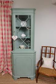 vintage corner china cabinet french gray floor standing corner cupboards