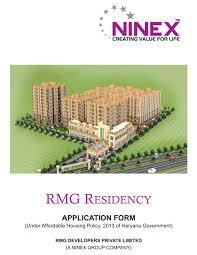 ninex rmg 1bhk affordable application form sector 37c gurgaon