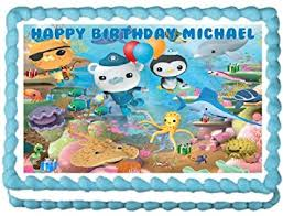octonauts cake toppers octonauts edible image cake topper 1 4 sheet