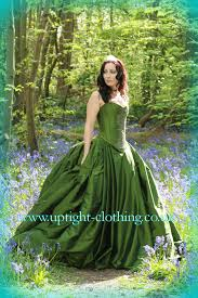beautiful green wedding dress