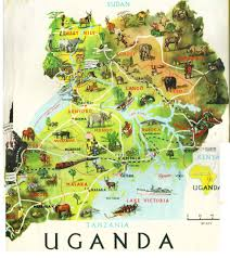 Lake Victoria Africa Map by Map Of Uganda And Yes There Is Civilisation Its Not All Bush