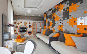 This Is Creative Kids Room Design In Orangegray Color Combination - Kids room style