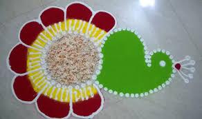 beautiful u0026 simple peacock rangoli designs images