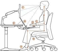 Ergonomic Office Desk Setup Office Desk Office Desk Ergonomics Remarkable Chair Setup For