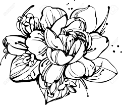 image a small bouquet of roses and snowdrops royalty free cliparts