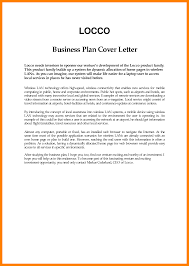Letter Of Intent Example Business by Cover Letter For A Business Plan Business Plan Cover Business Plan