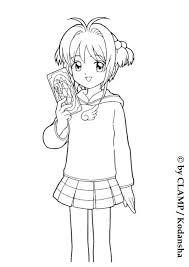 sakura magic card coloring manga coloring