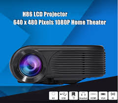 home theater projector h86 lcd projector 1000 lumens 640 x 480 pixels 1080p home theater