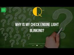 my check engine light is blinking why is my check engine light blinking youtube