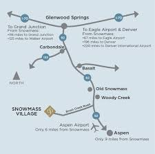 Driving Map Maps And Driving Directions To Snowmass Colorado