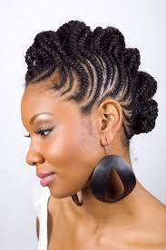 natural braided mohawk hairstyles for black women three pictures