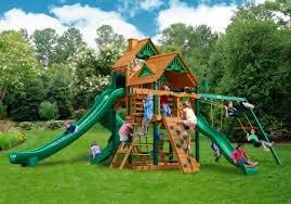 wooden swingsets playsets and swingset plans kits for your