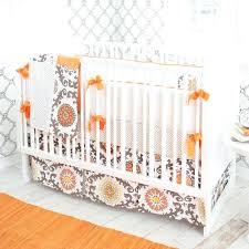 orange crib bedding peek a boo cat in the hat 4 piece crib blue