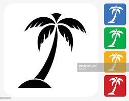 palm tree icon flat graphic design vector getty images