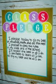 shabby chic lined chart class pledge shabby and classroom
