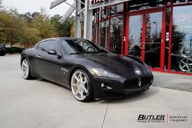 maserati gt matte black maserati granturismo with 22in savini bm10 wheels exclusively from