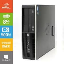 pc bureau reconditionné pc bureau hp elite 6200 dual 8go ram 500go disque dur