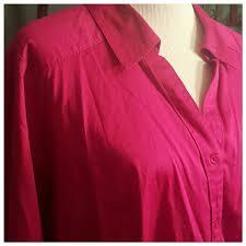 bright pink dress shirt lane bryant