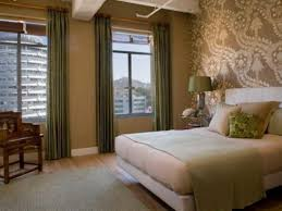 Beige And Green Curtains Decorating Green Curtain And Wall Color For Classic Bedroom Decorating