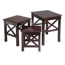 Pictures Of Tables Amazon Com Winsome Wood Xola 3pc Nesting Table Kitchen U0026 Dining