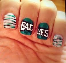 eagles football green black white silver nails nails pinterest