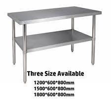 Stainless Steel Table EBay - Stainless steel kitchen table top