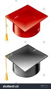 red black graduation hats gold tassel stock vector 7219774