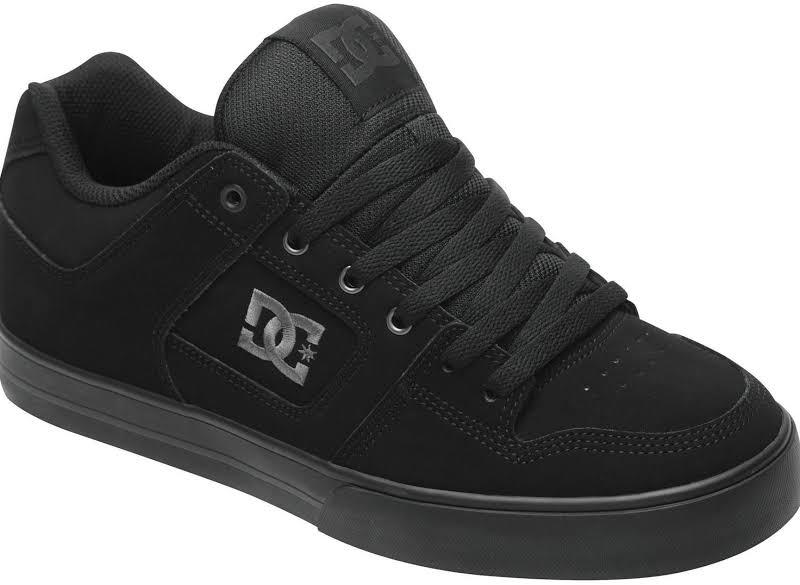 DC SHOES Pure Skate Shoe Black, 10.5