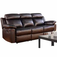 caroline leather pad arm reclining sofa jcpenney