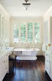 Bathroom With Two Separate Vanities by Building Our Dream Home Bathrooms