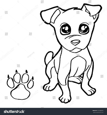 dog paw print coloring page vector stock vector 323280695