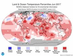 World Temperature Map by Assessing The Global Climate In June 2017 National Centers For
