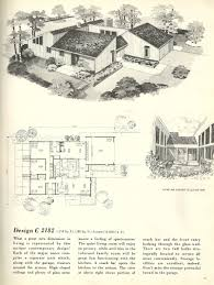 Vintage Home Floor Plans by Mid Century House Designs Plans Hahnow