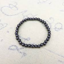 bracelet health magnetic images Weight loss round black stone bracelet health care magnetic jpg