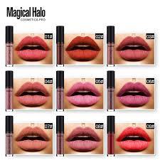 magical halo 38pcs lot matte liquid lipstick set lip paint matte