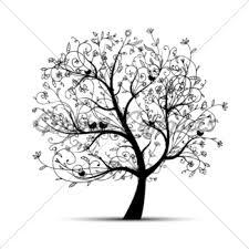 floral tree black gl stock images