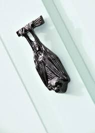 black cast iron bat door knocker black country metal works