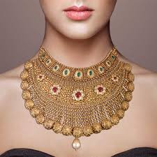 choker gold necklace images Maharaksha pearl drop gold choker necklace jpg