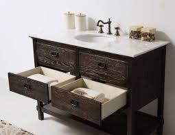 48 Bathroom Vanity Top Abel 48 Inch Rustic Brown Wash Bathroom Vanity Marble Top